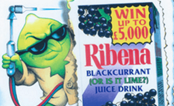 Promotion Ribena: Harry The Lime